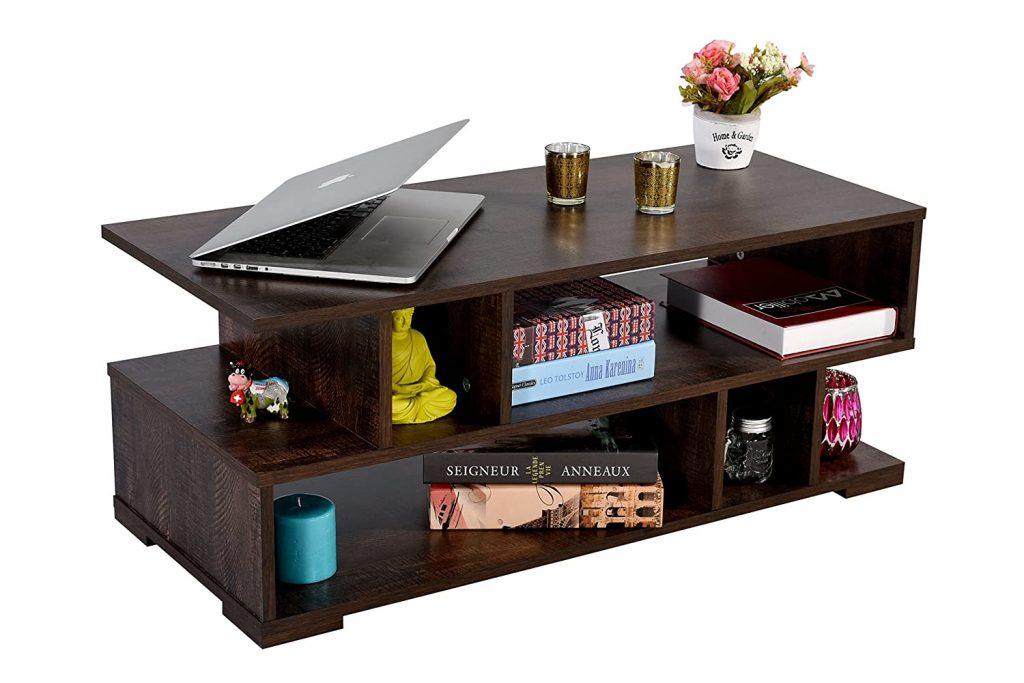 DeckUp Siena Wenge, Matte Finish Coffee Table best center table