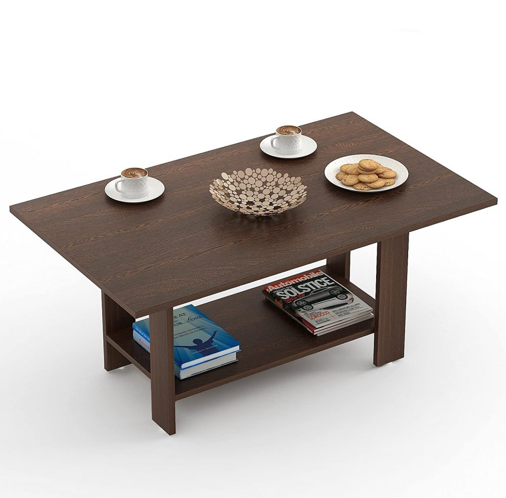 Bluewud Osnale Wenge, Rectangular Coffee Table best center table