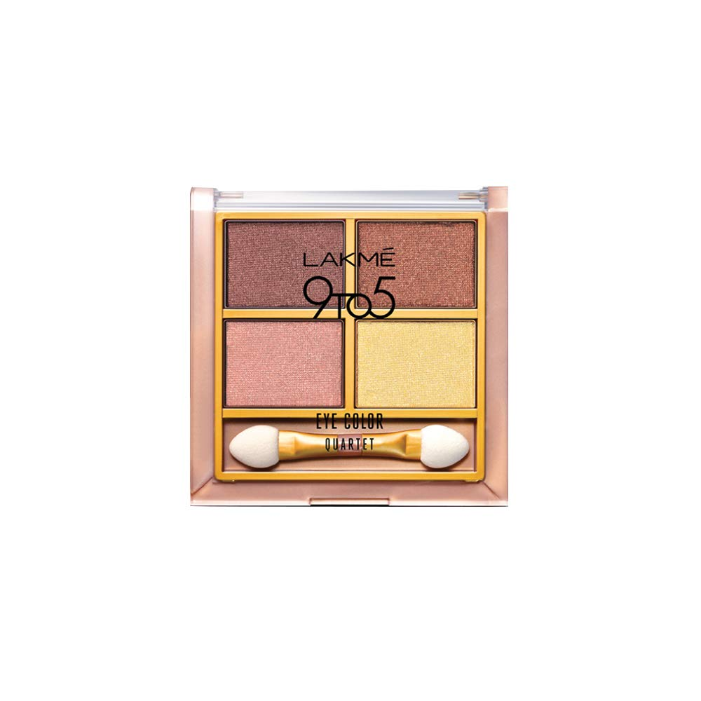 Lakme 9 to 5  Desert Rose Eye Color Quartet 7 Grams Best Eyeshadow Palette