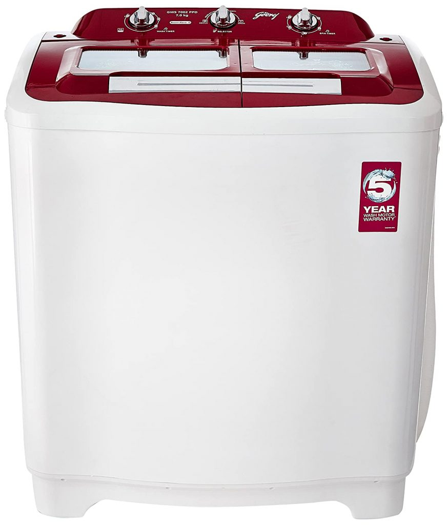 Godrej 7 kg GWS 7002 PPD Best Semi Automatic Washing Machine