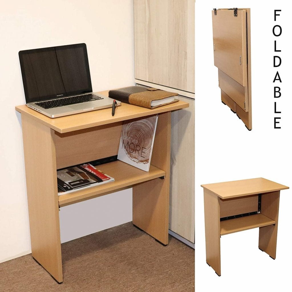 Spacecrafts Wooden Folding Office Table / Study Table