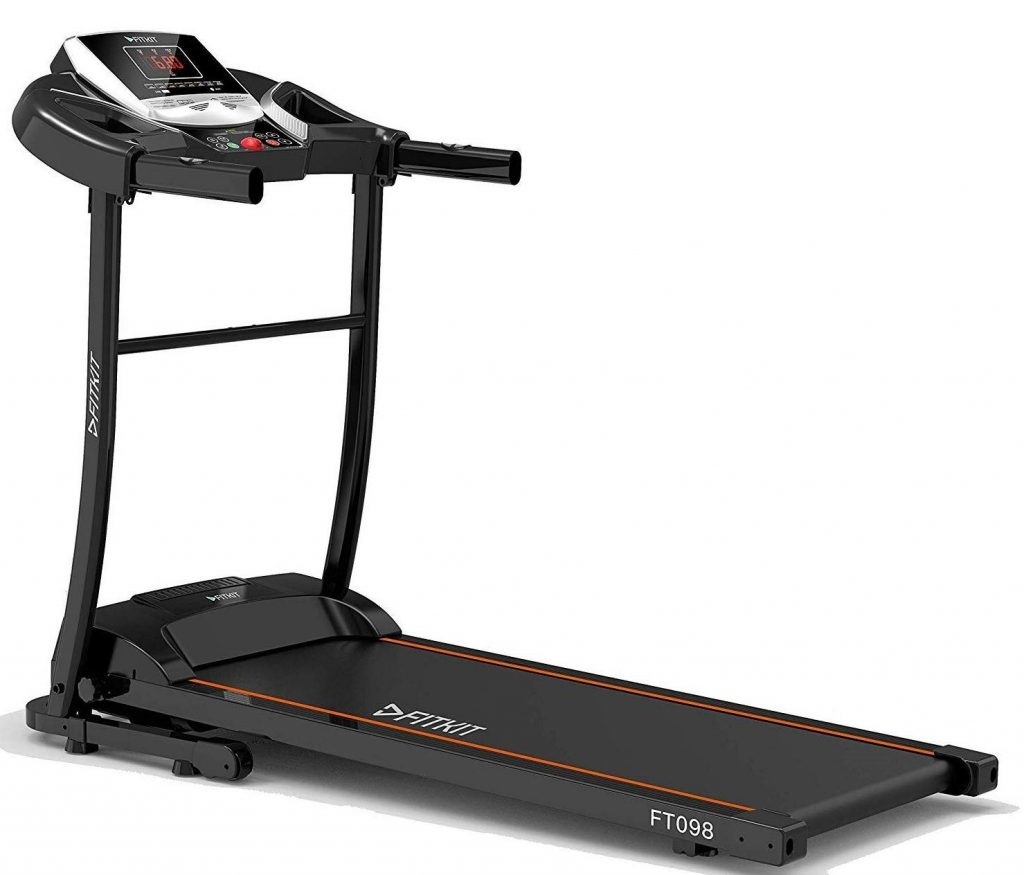 Fitkit FT098 1.5 HP (2 HP top) Motorized Treadmill for home
