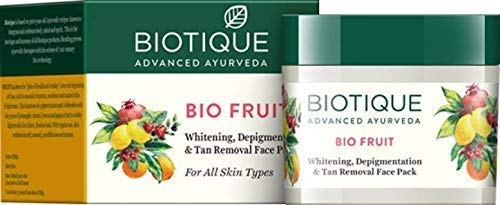 Biotique Bio Fruit Whitening And Tan Removal & Depigmentation face mask