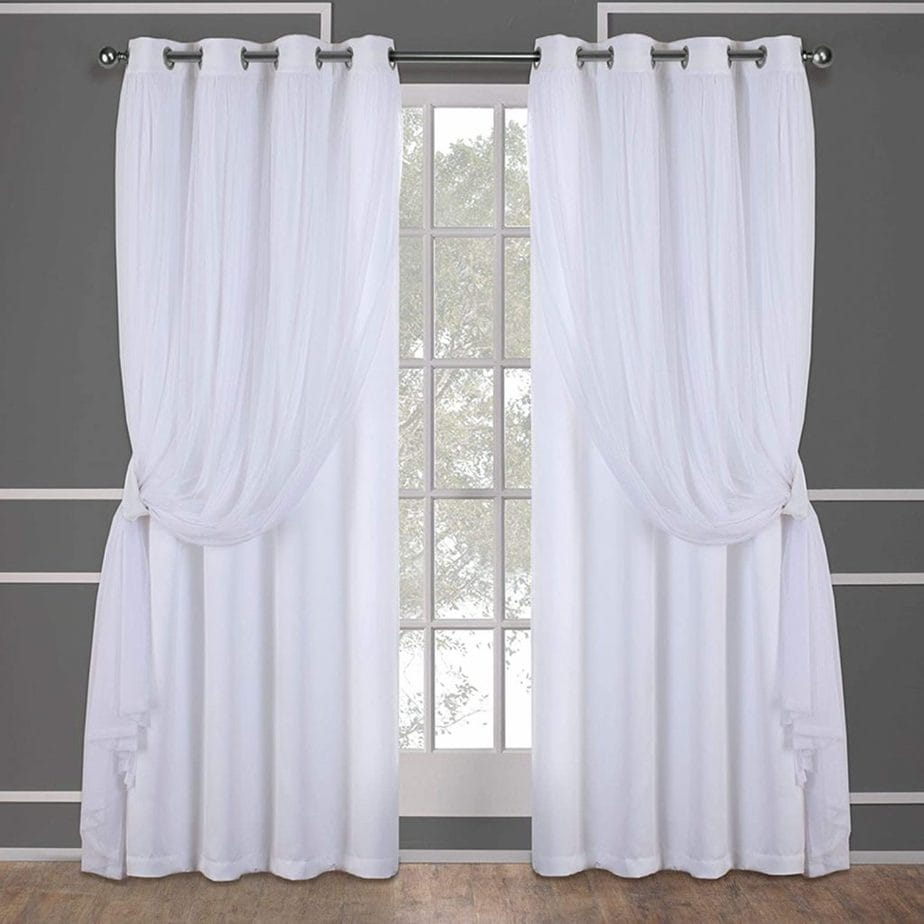 Catarina Layered Solid Blackout Curtains