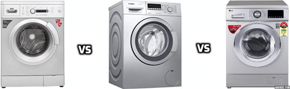 LG Versus IFB Versus Bosch Washing Machines